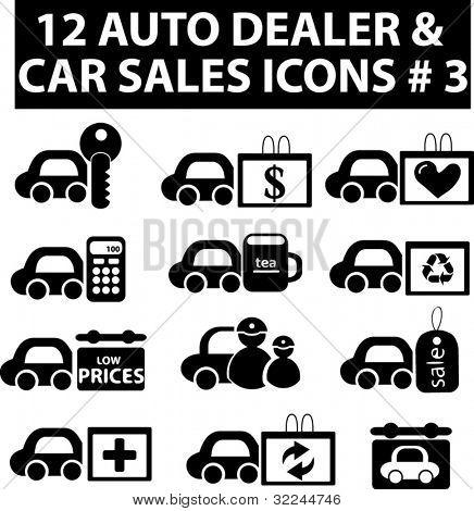 12 auto dealer & car sakes icons # 3.vector