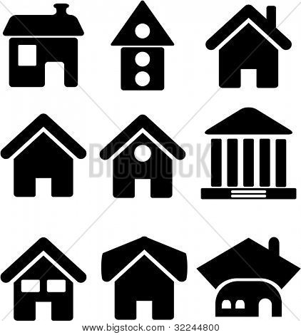 simple houses. raster version.visit my portfolio for a vector version.