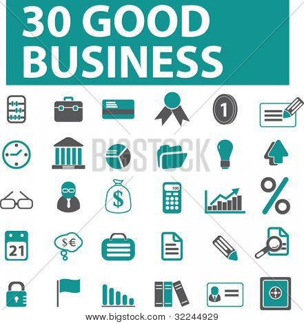 30 good business icons. vector