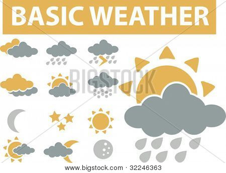 basic weather icons. vector