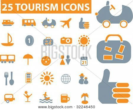 25 tourism icons. vector