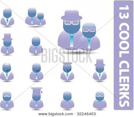 13 cool clerks. vector