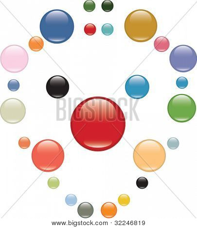 mega glossy buttons set. vector