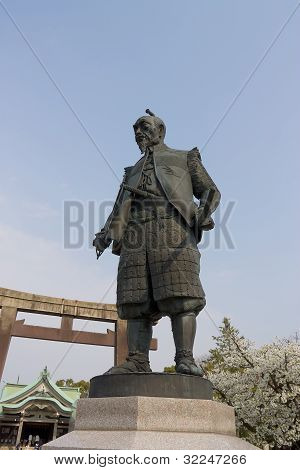 Statue Of Toyotomi Hideyoshi  In Hokoku Jinja Shrine, Japan