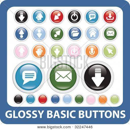 basic buttons. vector