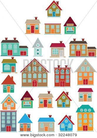 house from houses. vector