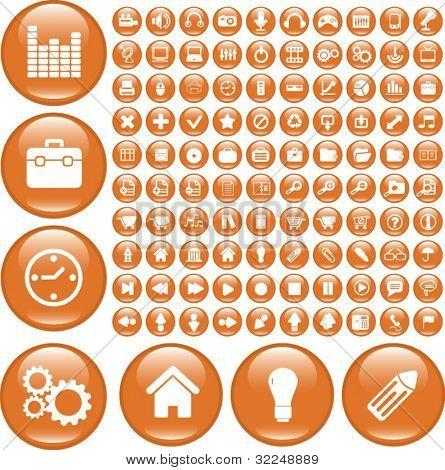 100 grand buttons. vector