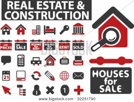 30 real estate & construction signs. vector
