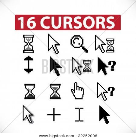16 cursors. vector