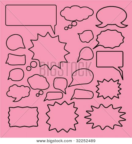 20 chat signs. vector