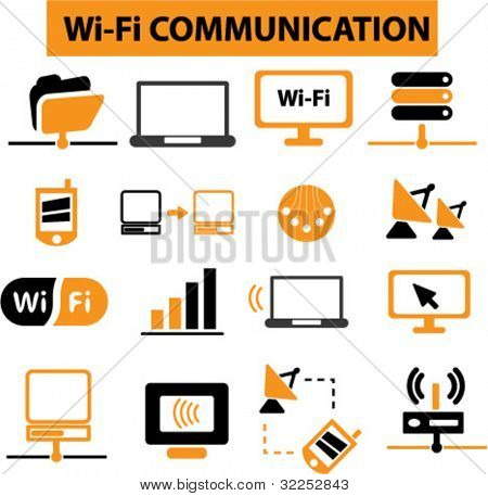 wi-fi communication signs. vector