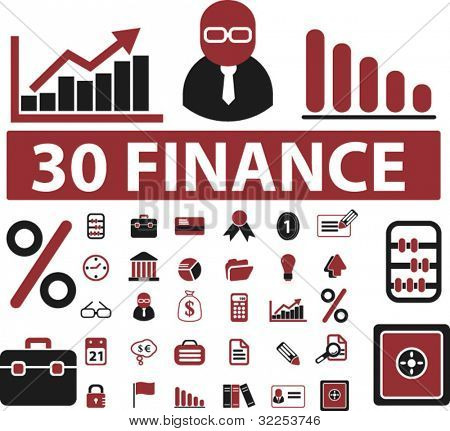 30 finance professional signs. vector