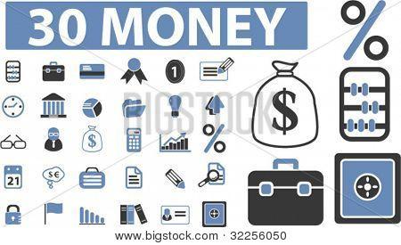 30 money signs. vector. please, visit my portfolio to find more cool vectors.