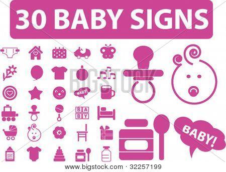 30 Baby-Zeichen. Vektor