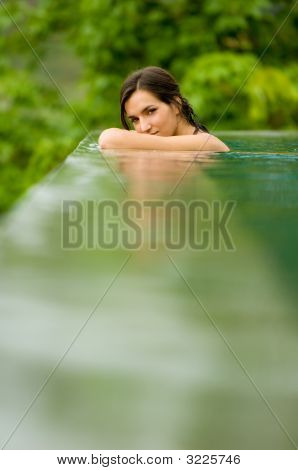 Woman In Pool