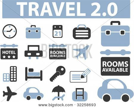 16 travel signs. vector