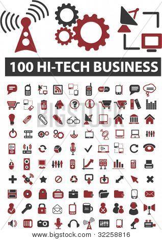 100 hi-Tech Unternehmen unterzeichnet. Vektor