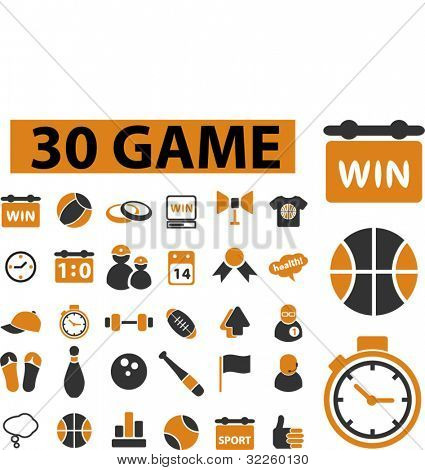 30 game signs. vector