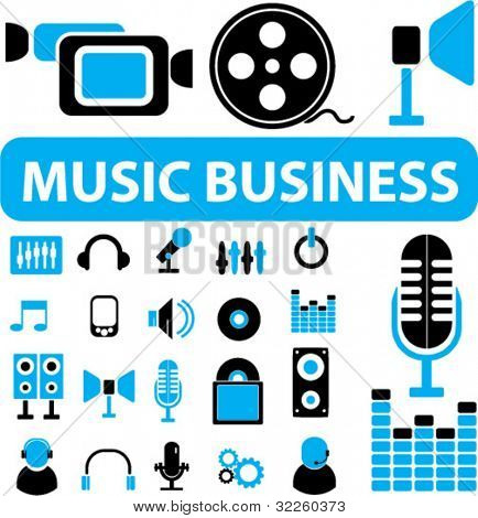 music business sings. vector