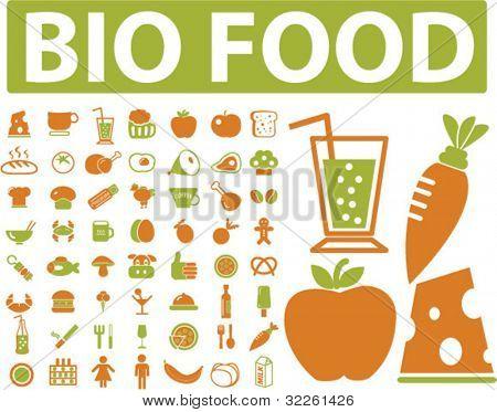 bio food signs. vector