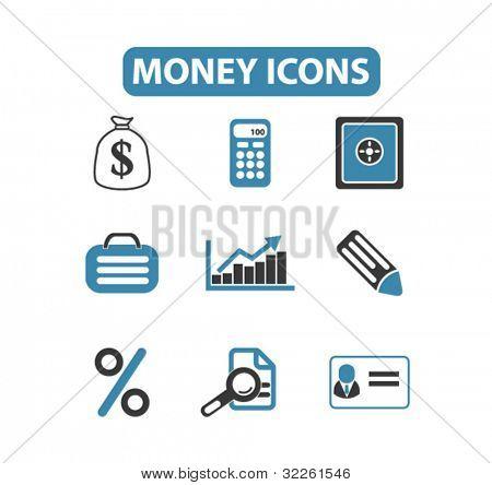 money icons, vector
