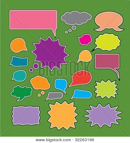 chat icons, vector