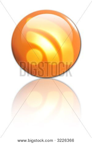 3D Rss Button