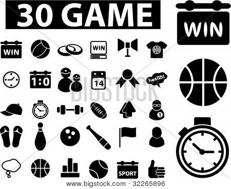 game icons set, vector