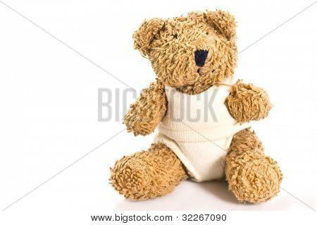 Vintage teddybear on white background