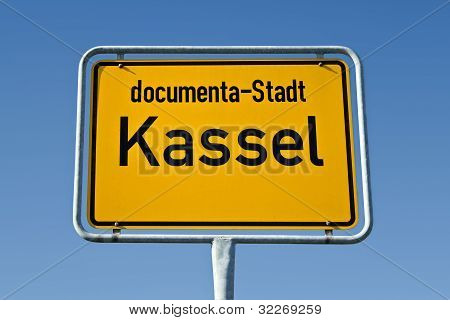 Sign of the german city Kassel