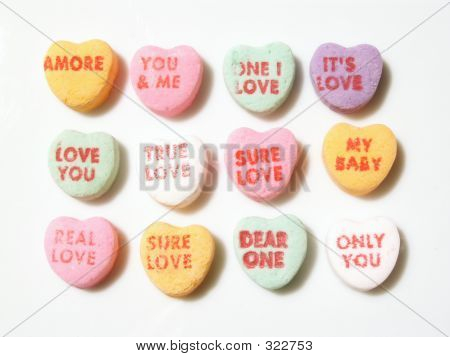 Valentines Day  Conversation Hearts Rectangle