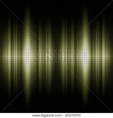 Sound waves with grid pattern