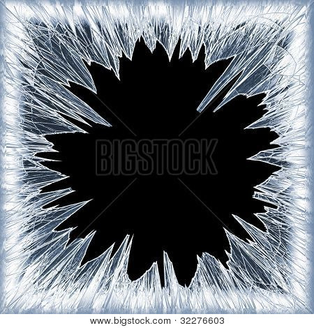 Frosty broken glass background