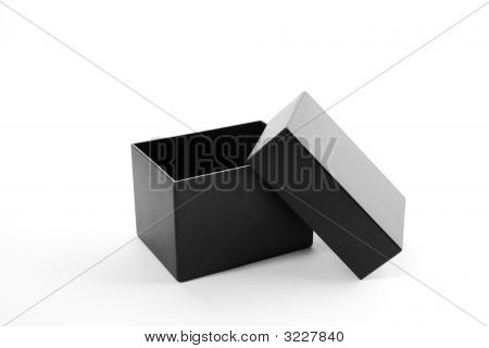 Open Black Gift Box