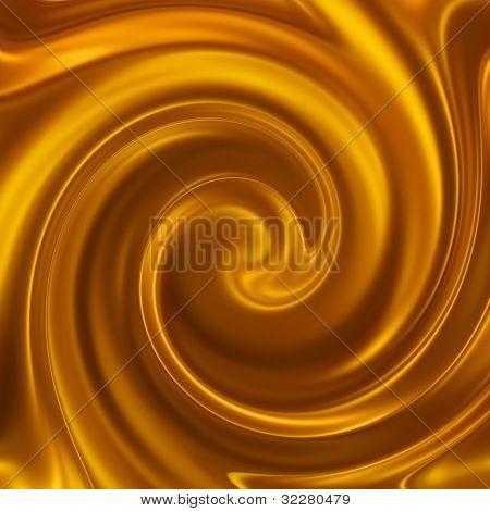 Golden satin Spiral-Hintergrund