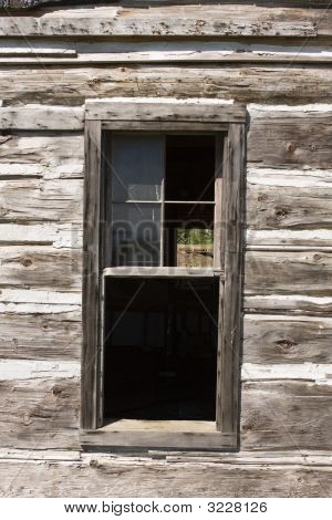 Barn Window With Old Glass