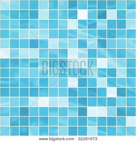 Turquoise mosaic background