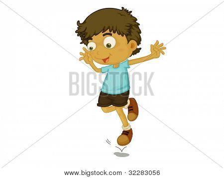 Illustration of a child jumping - EPS VECTOR format also available in my portfolio.