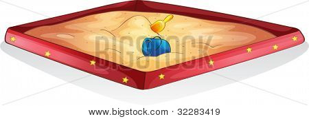 Illustration of a sand pit - EPS VECTOR format also available in my portfolio.