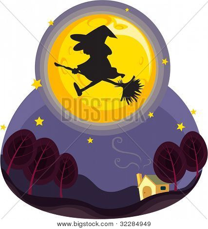 illustration of bewitch on a white background - EPS VECTOR format also available in my portfolio.