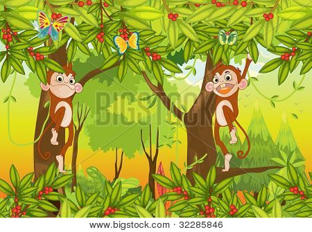 illustration of a monkeys on a white background - EPS VECTOR format also available in my portfolio.