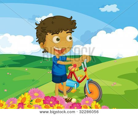 Illustration of kids in the park - EPS VECTOR format also available in my portfolio.