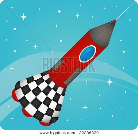 illustration of a rocket on a whote background - EPS VECTOR format also available in my portfolio.
