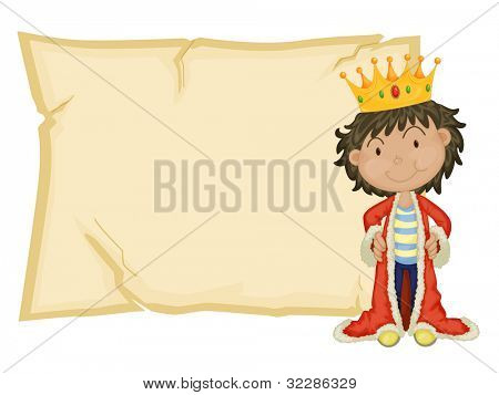 Young king in front of paper - EPS VECTOR format also available in my portfolio.