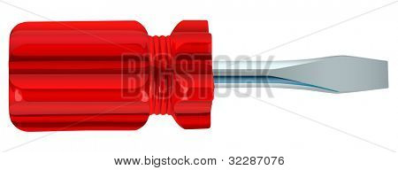 illustration of screw driver on a white background - EPS VECTOR format also available in my portfolio.