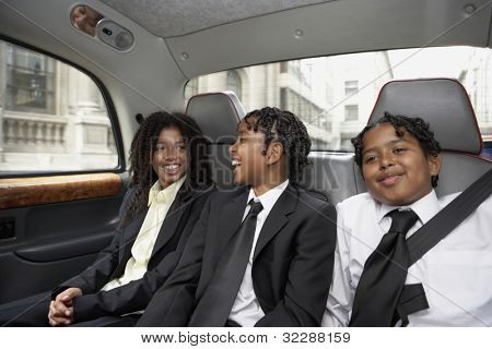 Students riding in the backseat