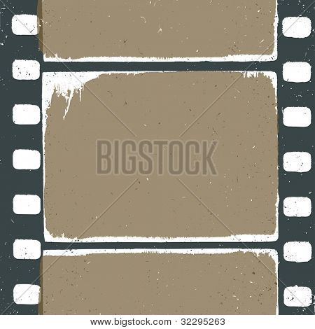 Empty grunge film strip design, may use as a background or overlays, raster version.