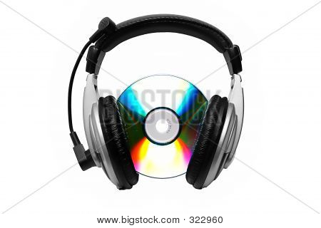Cd And Headphone.
