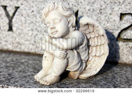 Resting cherub
