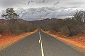 Endless Desert Road In The West Macdonnell Ranges
